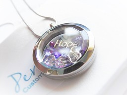 Gorgeous Diamond Cut Floating Locket