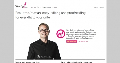 Copy editing services company