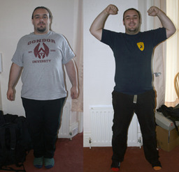 Luke has lost 2 stone!
