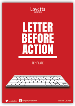 letter before action template
