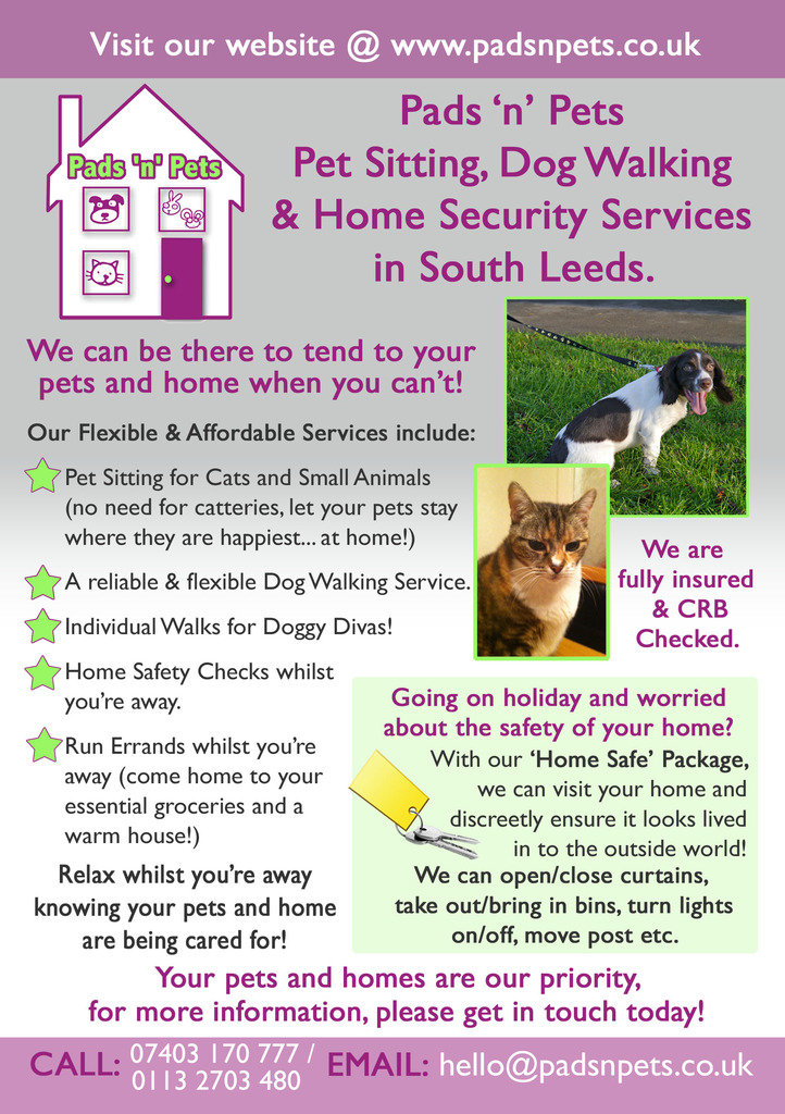 Details for Pads 'n' Pets Pet Sitting & Dog Walking ...