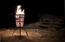 Original fire basket, a must when the weather turn