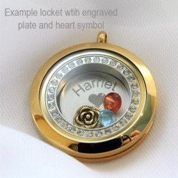 Personalised Name Floating Locket
