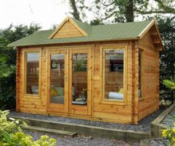 Alderley log cabin