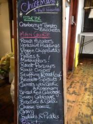 example of Christmas menu