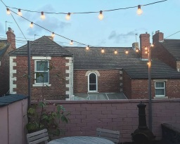 Festoon lighting in Blyth