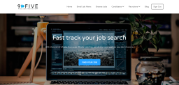 9-Five Job Search Homepage