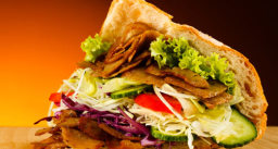Doner Kebab In Turkish Flat Bread