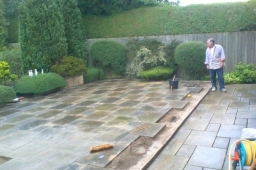Patio re laying service Nottingham , quality workmanship,