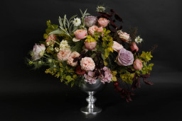 Metal pedestal vase wedding table centrepiece