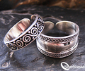 925 Sterling Silver Wrap Adjustable Toe Rings by Silver Nomad Jewellery UK