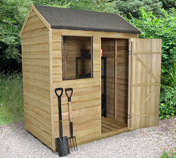 Reverse apex 6 x 4 shed