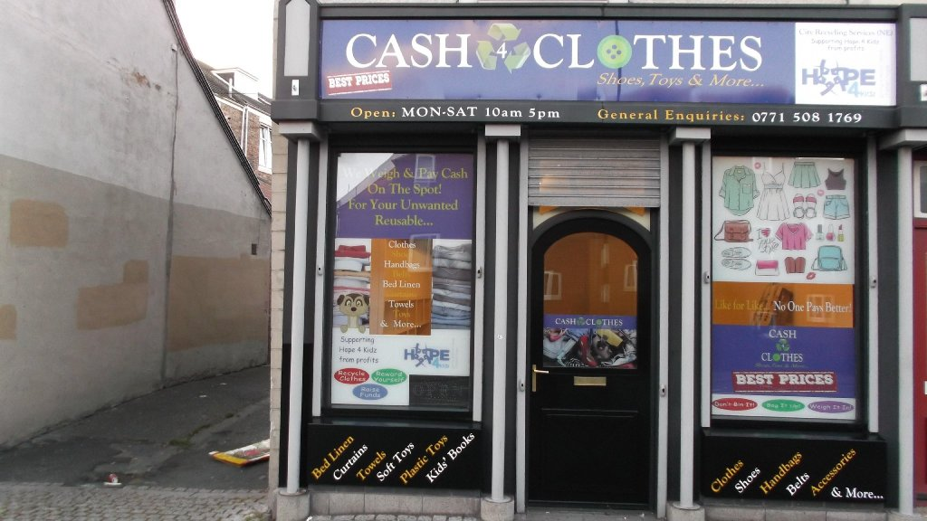Continue reading Cash for Clothes Sunderland → There is a fair chance that you have seen one of the Cash 4 Clothes vans driving around the city perhaps on your way to the Stadium of Light or passing the Sunderland Empire Theatre.
