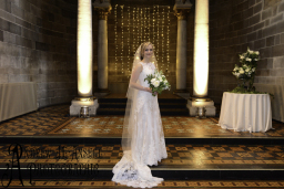 Portrait of the bride at Mansfield Traquair