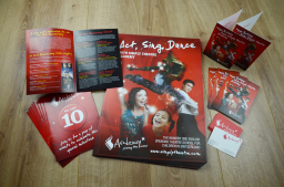 Posters, flyers, brochures and business cards