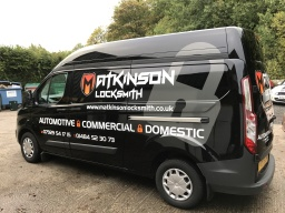M Atkinson Locksmith Van