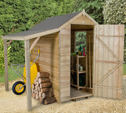4 x 6 shed with lean-to