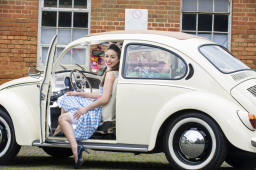 Buttercup Bus - white wedding car vw beetle hire