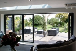 Grey aluminium Bi Folds