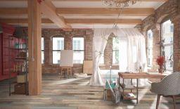 Salisbury distressed wood effect tiles
