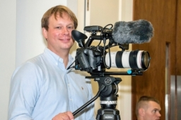 Lukas Professional Freelance Videographer with his Sony FS5 4K Video Camera