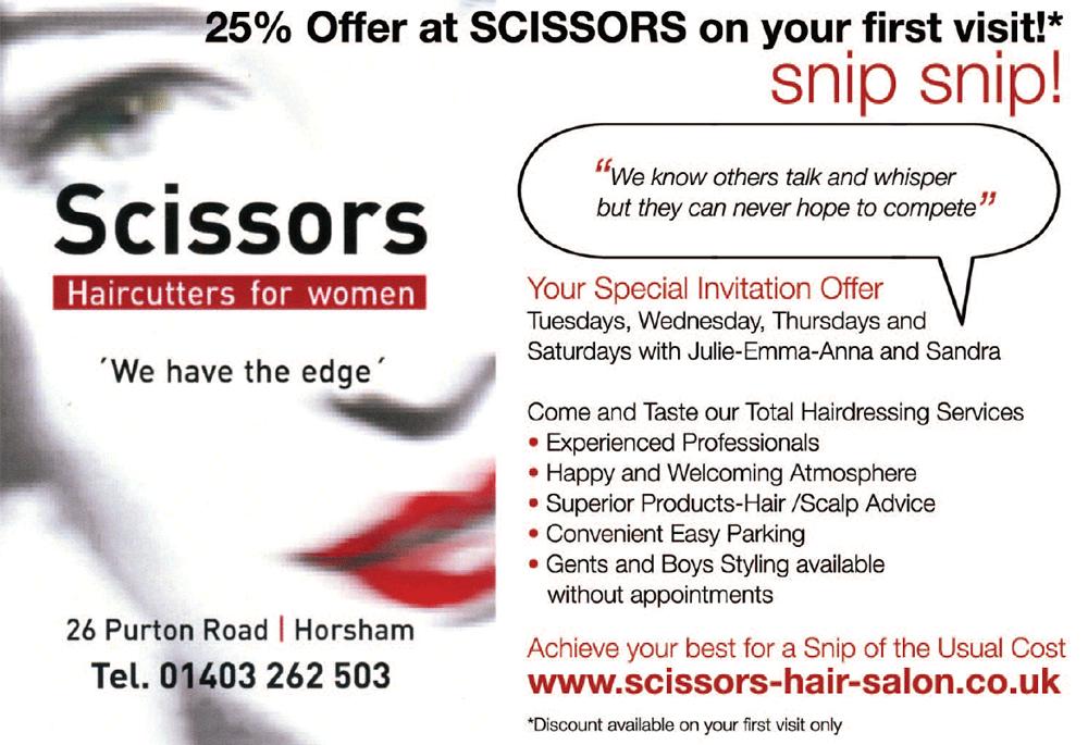 Details for scissors hair salon in 26 purton road horsham for Hair salon companies