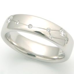 Platinum Diamond Set Constellation Ring