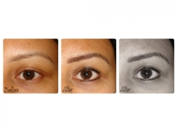 Semi Permanent Eyebrows and Natural Eyeliner By El Truchan