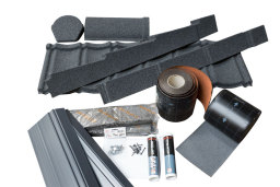 Lightweight Tiles Granulated Grey Roof Tiles.