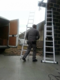 Our Managing Director Dan working on a Roller Shutter install at Dace Print, Rotherham