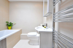 Bathroom with Heated Towel Rails