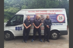 BDS Drainage - BDS team and van