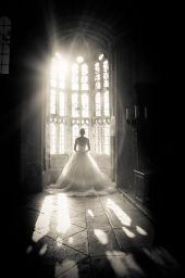 Bride at Athelhampton House
