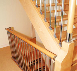 Fusion wood and metal stairs