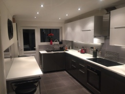 Complete kitchen splashbacks with glitter