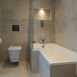 Bathroom Beige Wall Tiles