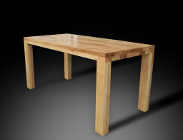 Arcus table in creamy ash wood
