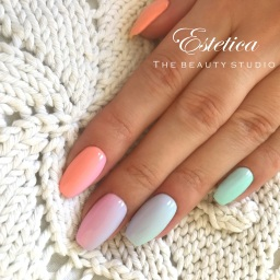 Sculpted gel nails in Farnborough by Estetica TBS
