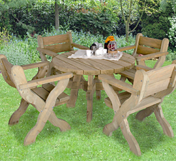 Ragley garden table and chairs