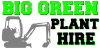 big green plant hire