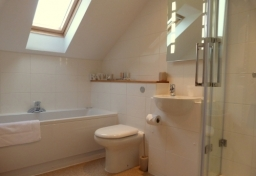 Bedroom 5 En-suite with Whirlpool bath and separate shower