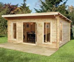 Mendip log cabin