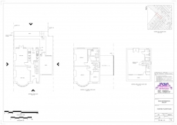 Existing Floor Plans for a Planning Application