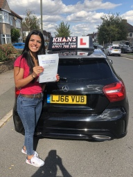 Student passes in West Wickham 1st time.