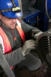 Managing Director Dan, working on a motor