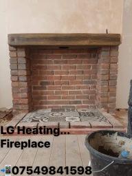 Hand built fireplace in Kirkby-in-Ashfield