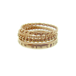 gold personalised stacking rings