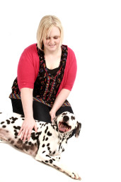 Vet Nurse Bizzy with her Dalmatian Jessie