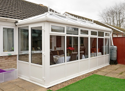 Lean-to conservatory.