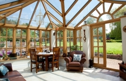 Oak Conservatory on listed building in Buckhurst Hill